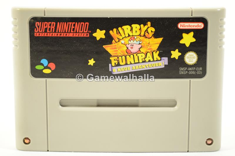 Kirby's Fun Pak (black label - cart) - Snes