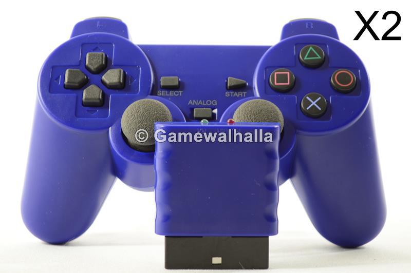 Manette Sans Fil Bleu (neuf) X2 - PS2