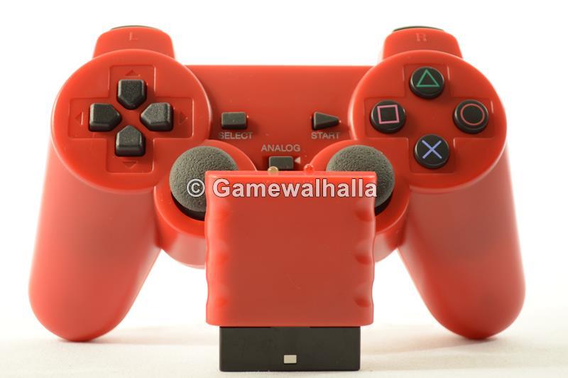 Manette Sans Fil Rouge (neuf) - PS2